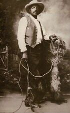 Ben Pickett, African American Black Rodeo & Wild West Show Cowboy Bill, Postcard