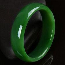 """Certified Natural Green Hetian Nephrite Jade Bangle Bracelet """"Handmade"""" 56-60mm"""