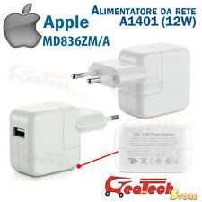 Caricabatteria ORIGINALE 12w 2A MD836ZM/A Alimentatore Per Apple iPhone 5 5S 5C