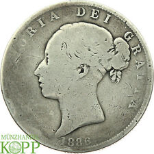 R735) GROSSBRITANNIEN ½ Crown 1886 - Victoria 1837-1901 - Silber