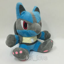 Nintendo Pokemon Lucario #338 Rukario Plush Soft Toy Stuffed Animal Doll 7""