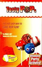 SET OF 8 SILICONE CAKE POP MOULDS MAKE 8 CAKE POPS NEW RECIPE BOOK INCLUDED