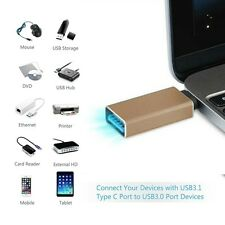 """USB-C 3.1 Type C Male to USB 3.0 Female Adapter for Apple MacBook 12"""" 15"""" Gold"""