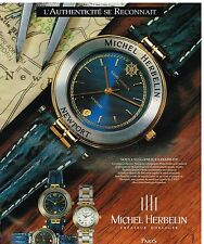 Publicité Advertising 1993 La Montre Newport Michel Herbelin