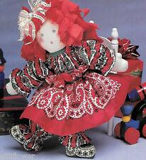 MERRIE CHRISTMAS RAG DOLL  - VINTAGE SEWING PATTERN