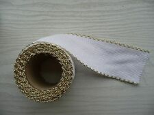"Cross stitch fabric Aida Band Gold Edging 2"" wide New by DMC 1metre length"