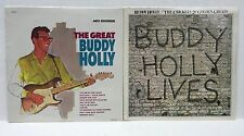 Buddy Holly Lives Sealed LP Lot The Great Buddy Holly Crickets 20 Golden Greats