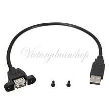 30cm USB 2.0 A Male to A Female Socket Panel Mount Adapter Extension Port Cable