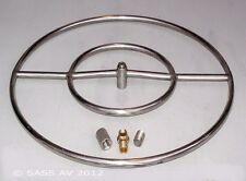 """24"""" Stainless Steel FIRE PIT DOUBLE RING GAS BURNER LP PROPANE"""