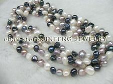 wholesale 10 strands 120cm length mixed real pearl necklace