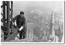Steel Worker on Empire State Building 1930 - NYC New York City -  NEW POSTER