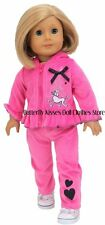 Poodles in Paris Tracksuit Doll Clothes Made For 18 in  American Girl Doll Grace