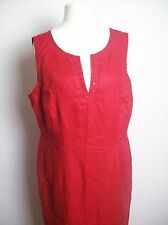 MONSOON MAXI RED LINEN  DRESS  SIZE UK 14 EU 42