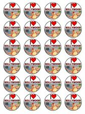 "ADORO Bollywood Indiano Film CUPCAKE TOPPER SU CARTA DI RISO 1.5"" 24 per Set"