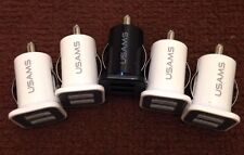 10x Universal Dual Port 2 USB 12V In Car Socket Lighter Charger Adapter SatNav