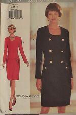 OOP BUTTERICK Designer 3750 MS Drop waist Dress PATTERN 12-14-16/18-20-22 UC