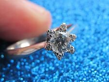 DAMIANI RING NATURAL DIAMONDS & SOLID WHITE GOLD 18K STAR SHAPE LADYES 2.98gr