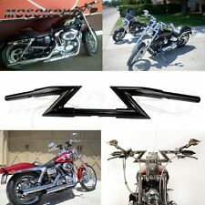 "Motorcycle  Black Crazy 1""  Z Bars Handlebars Custom For Honda Yamaha Suzuki Hot"