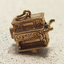 14k gold vintage CIRCUS MONKEY IN ORGAN GRINDER charm OPENS