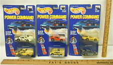 Lot 3 Hot Wheels 1989 Power Command Racers Ferrari Chervrolet # 4172,4173 & 4182