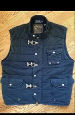 Polo Ralph Lauren NAVAL TAILORS VEST Navy Blue Nautical Aviator Women's Sz XL