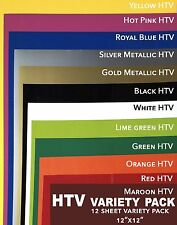 "grab bag 12 sheet 3""x12"" pack  HTV siser Easyweed heat transfer vinyl set lot"
