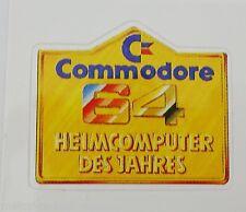 Aufkleber COMMODORE 64 C64 Brotkasten Heimcomputer des Jahres 80er Jahre Sticker