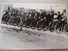 EARY TEENS MOTORCYCLE  GATHERING  12 X 18 LARGE PICTURE   PHOTO