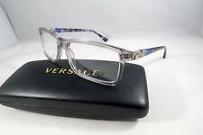 Versace MOD 3171 593 Clear Gray/Marble Blue New Authentic Eyeglasses 55/17/140mm