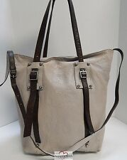 Schuler & Sons Leather Convertible Tote Crossbody Bag