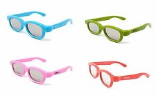 Mixed Pack of 4 pairs of Children's Passive 3D Glasses LG Toshiba Cinemas LG
