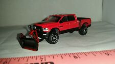 1/64 CUSTOM ERTL farm toy 17 dodge 2500 power wagon snow plow blade pickup truck