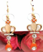 Women/Girls Fashion Elegant Crystal Rhinestone Earrings Crown new