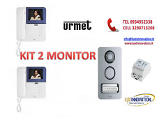 KIT VIDEOCITOFONO MONOFAMILIARE A COLORI 2 FILI URMET 956/81 KIT CON 2 MONITOR