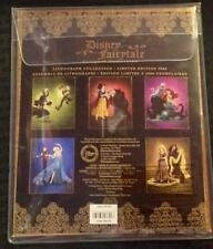 2015 Disney D23 EXPO Fairytale Designer Lithographs Set Heroes Villans LE /2000