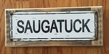 Saugatuck Douglas MI Michigan Poster Vintage Metal Sign Lake House Cabin Decor