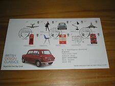 """2009 GB Stamps """"BRITISH DESIGN CLASSICS"""" First Day Cover TALLENTS HOUSE Cancel"""