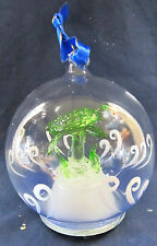 Sea Turtle Blown Glass Ornament Figurine Light-up Holiday Decor