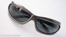 Resistor silbergraue gebogene Sonnenbrille dunkelgraue Gläser Fahrradbrille GR:M