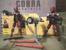 GI JOE ~ 2009 COBRA CRIMSON TROOPER & OFFICER  ~ RESOLUTE ~100% & FILE CARD