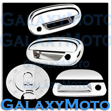97-03 Ford F150 Triple Chrome 2 Door Handle+Keypad+w/PSG KH+Tailgate+GAS Cover