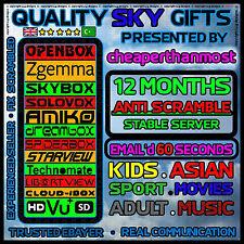 12 Month Gift Openbox Skybox F5 Zgemma Warranty V8S Full V9 VU Amiko H2S PPV HD⚫