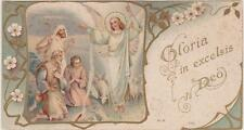 IMAGE PIEUSE HOLY CARD SANTINI/GLORIA IN EXCELSIS DEO/BERGERS / BREBIS/