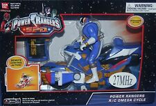 Power Rangers SPD R/C Omega Cycle New 27MHz Remote Control White Blue 2005