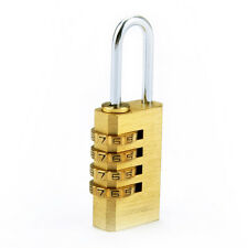 Mini 4 Digits Password Codes Lock Combination Padlock Resettable for Gate Bags