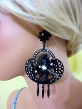AUTHENTIC J CREW MIDNIGHT CRYSTAL CHANDELIER EARRING NWT #E9507 $110