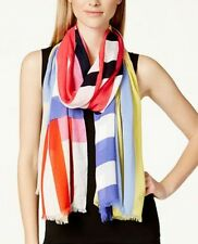 "KATE SPADE NEW YORK FLAG STRIPED OBLONG SCARF  30""x82"""