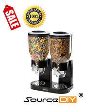 Erogatore di cereali Nero Cibo Dry Storage DOPPIO CONTENITORE MACCHINA Premium in plastica