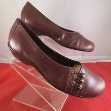CLARKS BROWN LEATHER LOAFERS SLIP-ON BALLET FLATS WOMEN'S SIZE 7.5 M (72057)