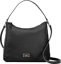 NWT Kate Spade Blake Avenue Justyne Black Nylon Hobo Shoulder Bag $229 WKRU4060